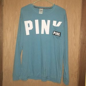 🌻PINK Baby Blue Long Sleeve Tee With Pocket